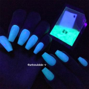 testando pó neon que brilha no escuro beauty bigbang