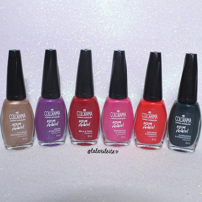 a18b13b6e8f91 recebidos colorama assim e pronto, esmalte colorama, colorama, coleção  assim e pronto,. CORES