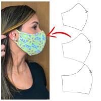 Como Fazer Máscara De Tecido Para Proteção De Rosto (Molde Fácil)