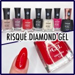 Resenha Esmaltes Risqué Diamond GEL (Swatches)