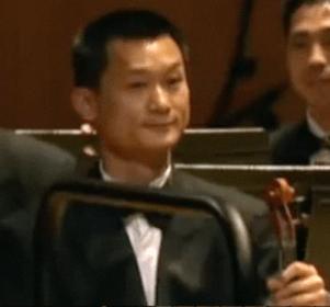 Kim Su-myong 김수명. He later played first violin in Chongbong Band.