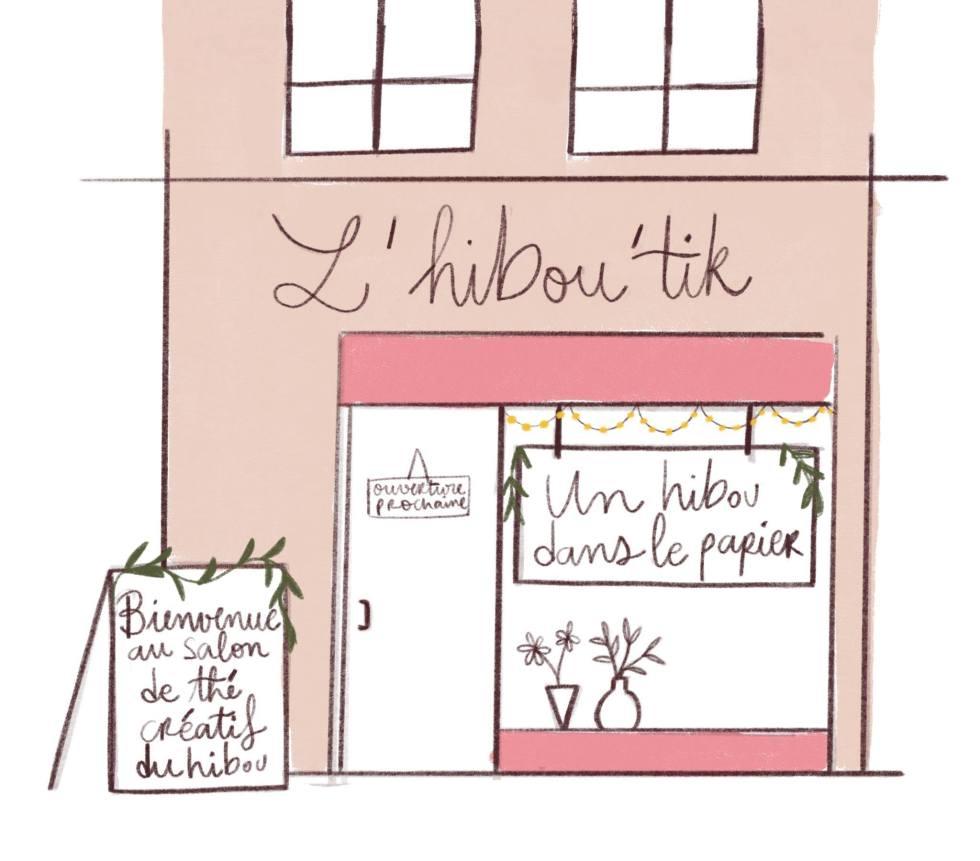 plan de l'Hibou'tik par studio Auburn