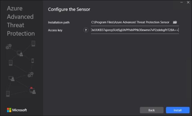 Como instalar o sensor do Azure ATP 02
