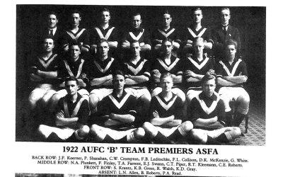 1922 Mens B Team Premiers