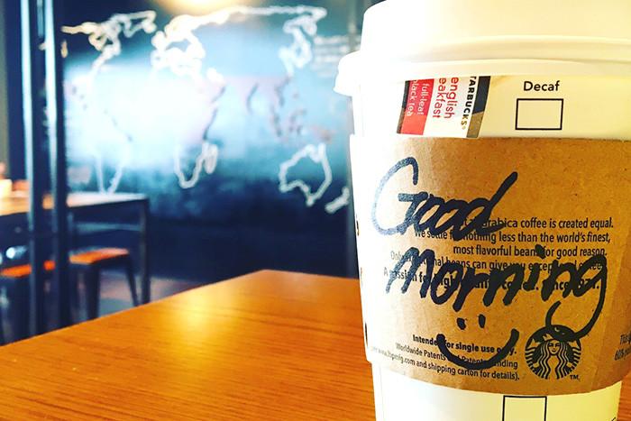 スタバの朝のコーヒー