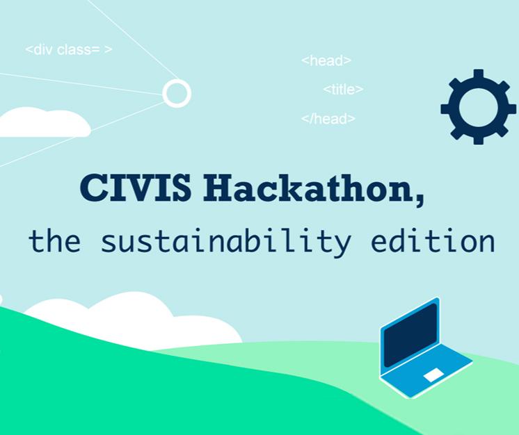 afiș hackathon civis