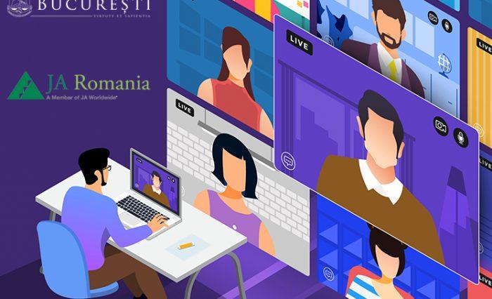 Webinare online dedicate studenților și profesorilor UB, organizate de Junior Achievement România