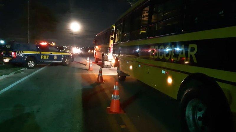 Operação da PRF recolhe 27 ônibus escolares com irregularidades no RN