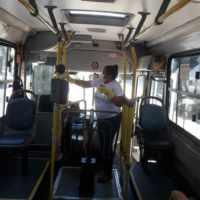Natal: Prefeitura começa campanha de higienização nos ônibus