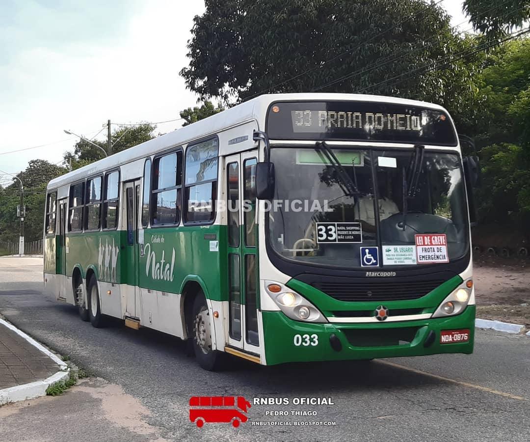 Maioria dos ônibus de Natal continuam sem circular no segundo dia de greve dos rodoviários