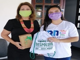 Despoluir entrega premiação para vencedora do concurso Amigos do Trânsito 2020