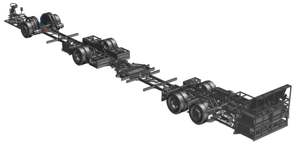 BYD fabrica o primeiro chassi de ônibus articulado 100% elétrico do Brasil