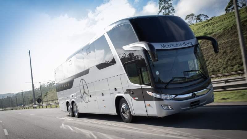 Mercedes-Benz lança campanha para mostrar ações de combate ao Coronavírus nos ônibus