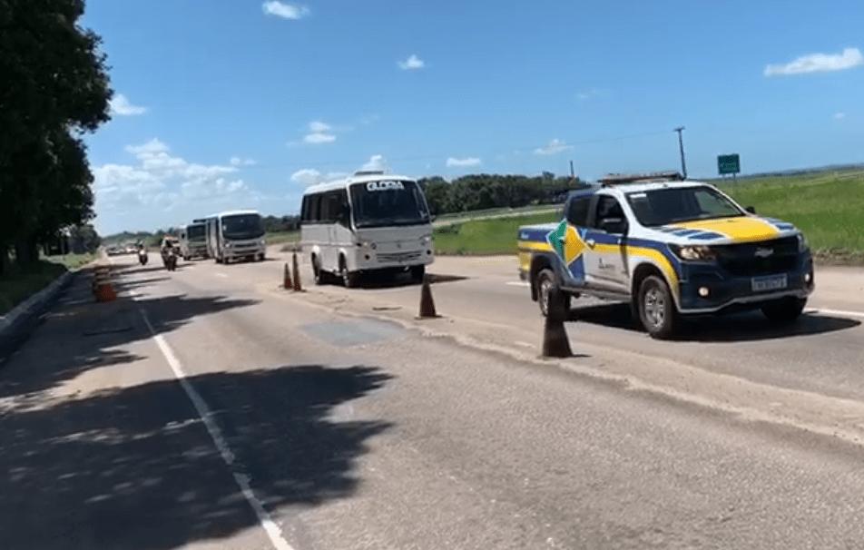 ANTT apreende 14 veículos em péssimas condições em fiscalização em Pernambuco