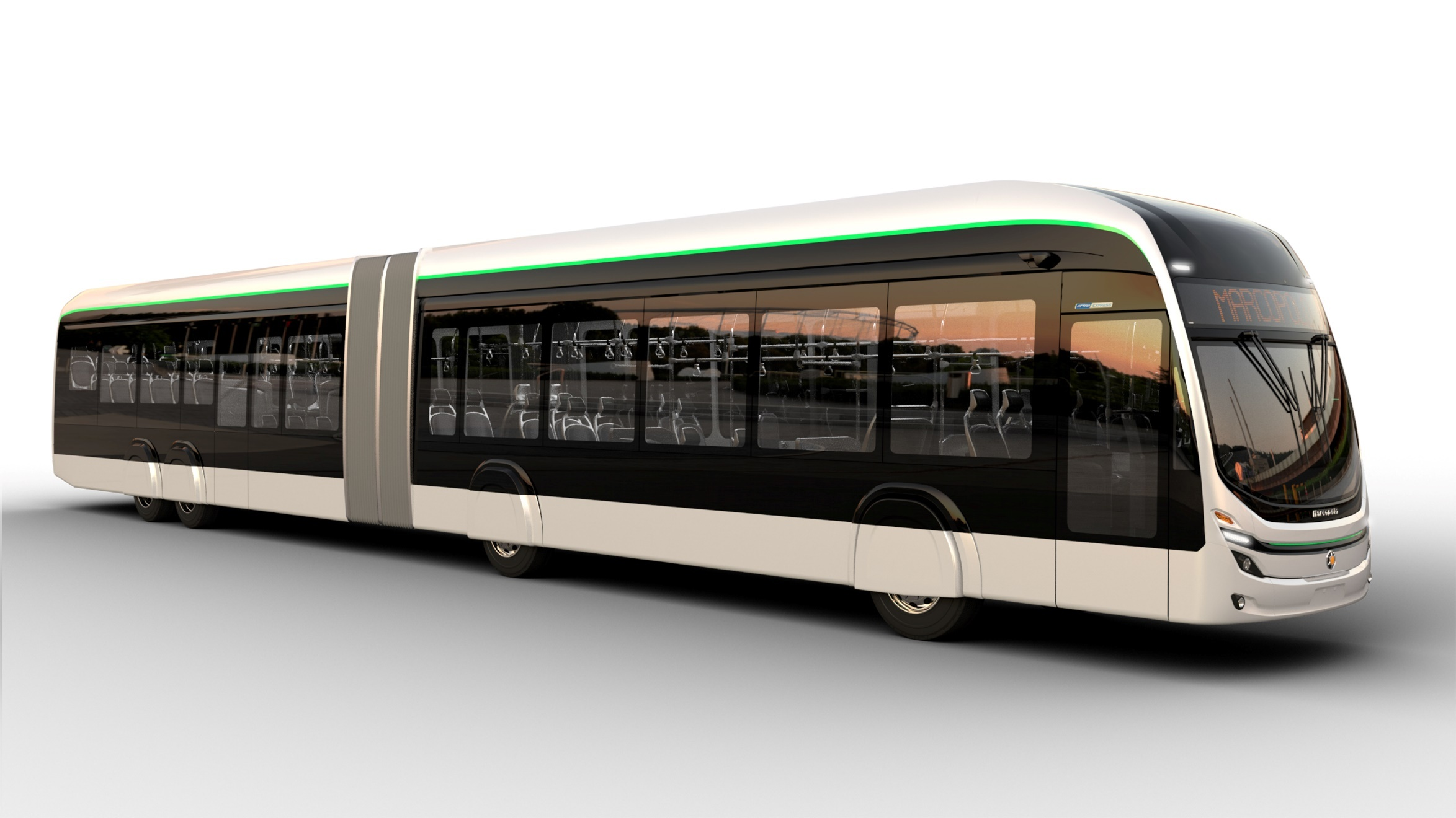 Marcopolo desenvolve Attivi Express, novo articulado para tecnologia 100% elétrica