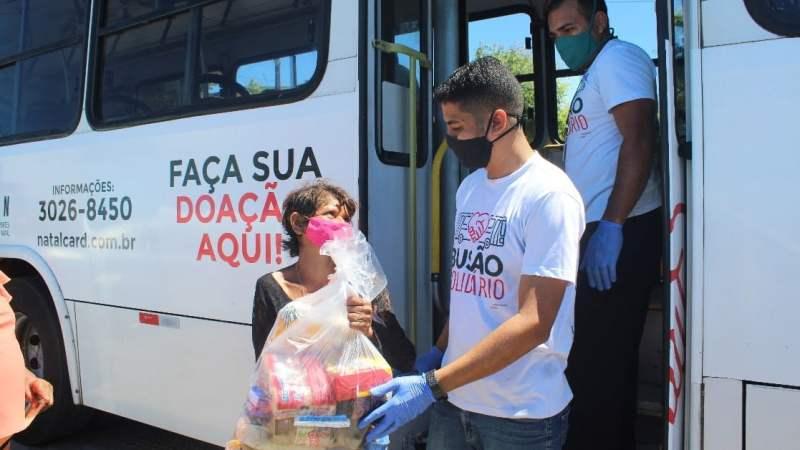 Campanha do SETURN mobiliza Natal e arrecada 105 toneladas de doações