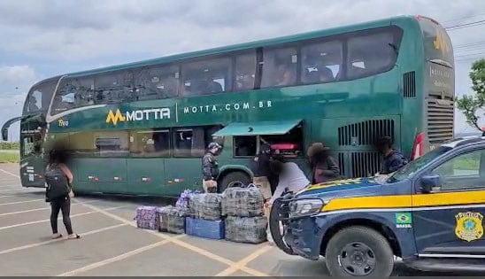 PRF apreende na BR-060 carga ilegal avaliada em 150 mil reais vinda do Paraguai