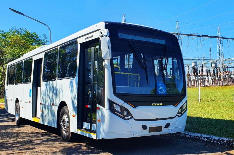 ES: Caio produz dois ônibus Millennium 100% elétricos para Unimar Transportes