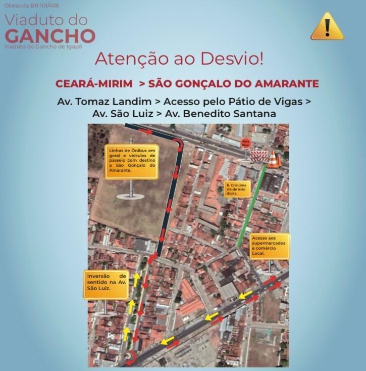 Dnit interdita trecho da BR-101 Norte durante 90 dias para obra do Gancho de Igapó