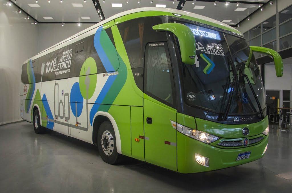 Marcopolo Viaggio 1050 BYD 100% elétrico inova transporte gaúcho
