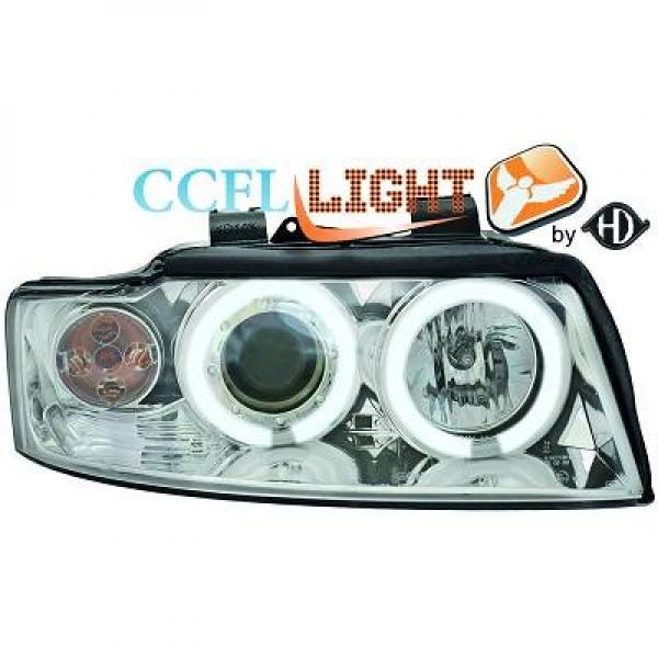 Audi-A4-B6-LimAvant-00-04-Faróis-Angel-Eyes-CCFL-Cromados