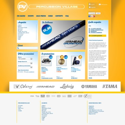 sito web negozio settore musica