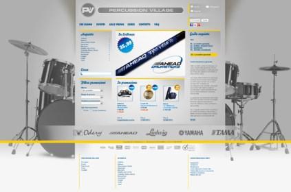 Percussion village sito web negozio articoli musicali