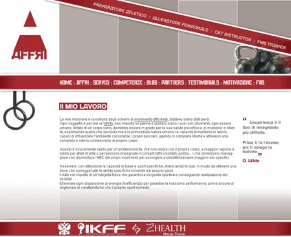 Proposta sito web affri pagina interna