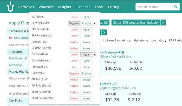 Stock Screener Fundamentals