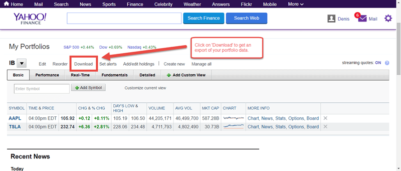 download free data from yahoo finance uk