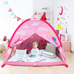pop up play tent pink