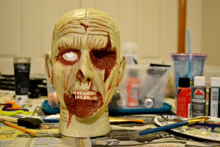 How To Paint a Zombie Head