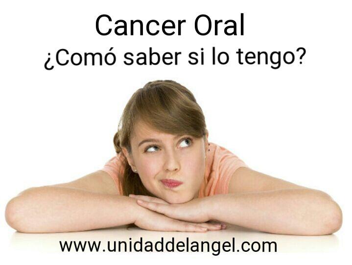 Cáncer oral: Signos y síntomas