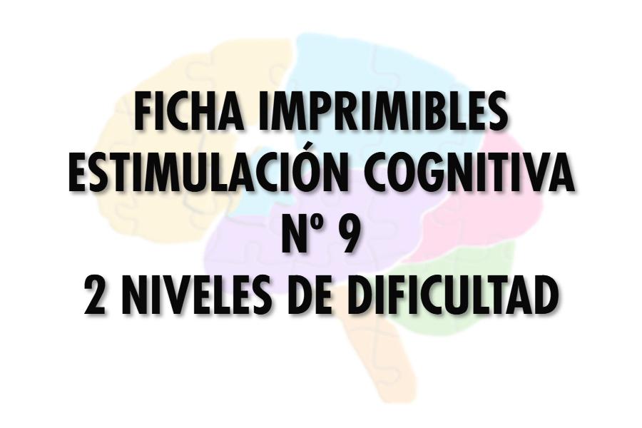 Ficha Estimulación Cognitiva nº 9