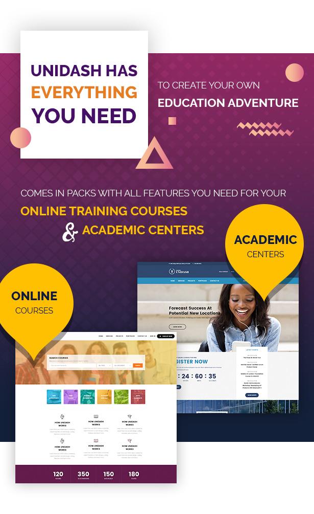 Unidash - WordPress Theme for University and Online Education - 11