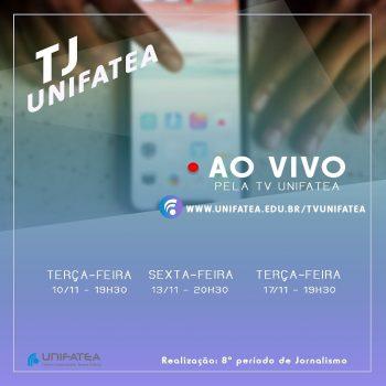 Turma de Jornalismo estreia hoje o primeiro jornal ao vivo do UNIFATEA