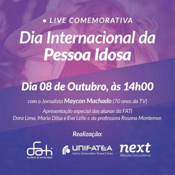 Evento online comemora o Dia Internacional do Idoso