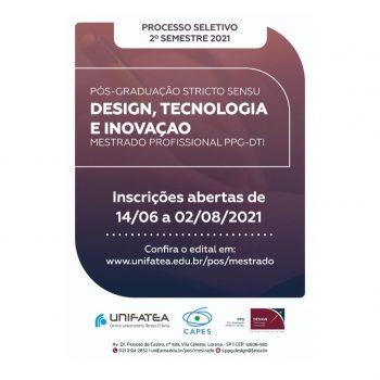 O Mestrado Profissional em Design, Tecnologia e Inovação está com as inscrições abertas, venha conhecer!