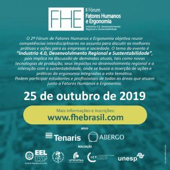 II Fórum de Fatores Humanos e Ergonomia