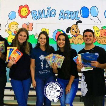 Associação Atlética UNIFATEA realiza projeto social e incentiva crianças a leitura