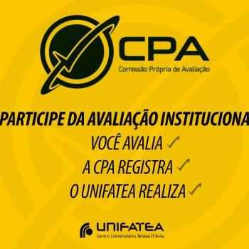 Atenção alunos, período da C.P.A. está aberta, contribua e participe da pesquisa
