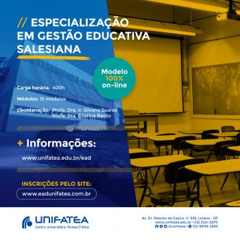 Novo curso de Especialização em Gestão Educativa Salesiana será totalmente na modalidade EAD