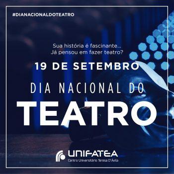 19 de setembro dia Nacional do Teatro