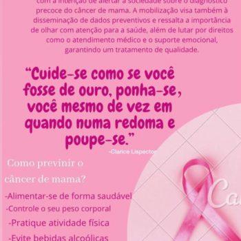 Alunos do curso de Enfermagem desenvolvem campanha de prevenção contra o câncer de mama