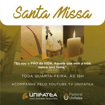 Pastoral UNIFATEA promove Santa Missa todas as quartas-feiras