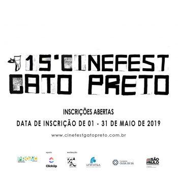 Aberta as inscrições para a 15ª edição do Cinefest Gato Preto