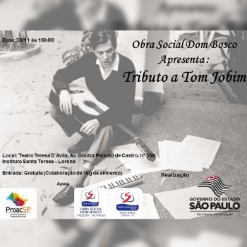 Teatro Teresa D'Ávila apresenta Tributo a Tom Jobim