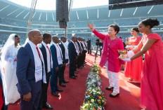 「2019南アフリカ共和国 孝情ファミリー祝福フェスティバル」韓鶴子総裁がカップルに聖水|世界平和統一家庭連合News Online