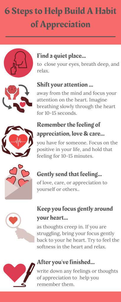 Six Steps to Help Build a Habit of Appreciation