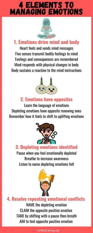 4 elements to managing emotions infographic